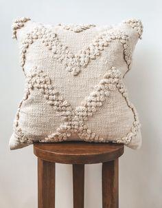 Natural Bohemian Chevron Pillow Cover  Boho Beige Decorative | Etsy