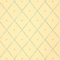 Tudor #wallpaper in #yellow from the Serendipity collection. #Thibaut