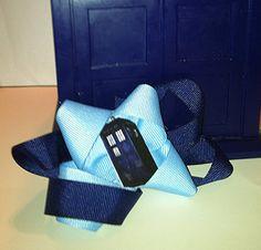 Doctor Who Tardis Bow by NerdvanaMama on Etsy, $5.50