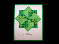 Quilted card for St. Patrick's Day