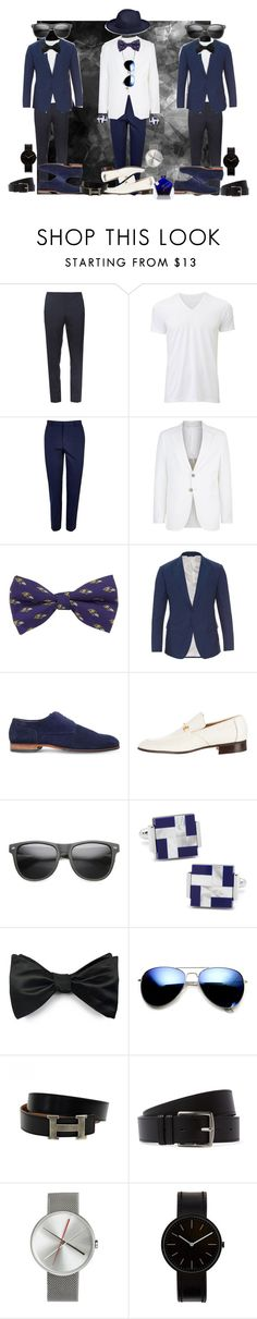 """Attending the shows w/ security"" by therealdurrah on Polyvore featuring Burberry, Uniqlo, River Island, Giorgio Armani, Dolce&Gabbana, HUGO, Church's, Ox & Bull Trading Co., Louise & Zaid and Revo"