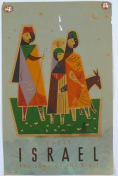Visit Israel 3 Wise Men Original Vintage Travel Poster 1950s Jean David | eBay