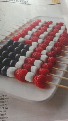 of July fruit kabobs. From Family Circle magazine, July of July fruit kabobs. From Family Circle magazine, July 4th Of July Desserts, Fourth Of July Food, 4th Of July Party, Patriotic Party, Patriotic Desserts, Fourth Of July Recipes, Summer Treats, Holiday Treats, Holiday Recipes