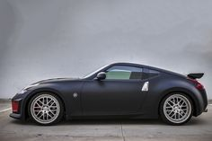Nissan 370Z wrapped with 3M Matte Black Vinyl by Rolotech Car Wraps