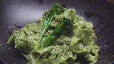 Parsley Pappardelle with Broccoli Sauce. Was a lovely dish. Made with store bought tagliatelle. Yum i.e.