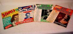 4 VINTAGE 1940S SONG HITS MAGAZINES ESTHER WILLIAMS FRANK SINATRA AVA GARDNER