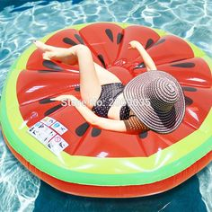 In Design; Reasonable Adult Water Super Large Floating Row Sports Air Mattress Collapsible Swimming Pool Beach Inflatable Floating Mattress Bed Chair Novel