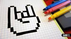 """Résultat de recherche d'images pour """"pixel art main"""""""