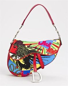 Christian Dior LU Mania Sound of the Soul Saddle Shoulder Bag Dior Saddle Bag, Saddle Bags, Chanel Handbags, Purses And Handbags, Dior Bags, Christian Dior, Bag Closet, Art Bag, Cute Bags