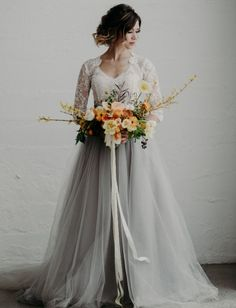 Green Wedding Shoes, White Wedding Dresses, Dress Wedding, Tulle Wedding Skirt, Wedding Bouquets, Woodland Wedding Dress, Green Shoes, Grey Tulle Skirt, Tulle Skirts