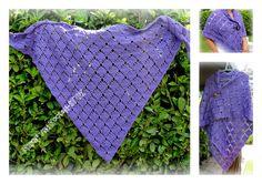Het patroon (ook een teltekening)  van deze omslagdoek is hier te vinden http://www.pinterest.com/pin/126734176988916794/ The pattern (diagram) of this shawl http://www.pinterest.com/pin/126734176988916794/