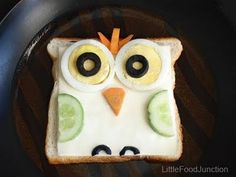 Owl Sandwich for Kids