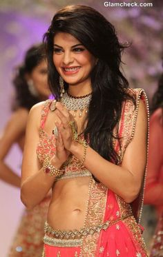 Bollywood actor, Jacqueline Fernandez was the showstopper and star attraction at Jyotsna Tiwari's show during the Aamby Valley India Bridal Fashion Week (IBFW) in Mumbai, India on November Indian Celebrities, Bollywood Celebrities, Beautiful Celebrities, Bollywood Actress, Beautiful Women, Indian Attire, Indian Wear, Indian Outfits, Bollywood Stars
