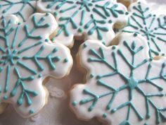 snowflake cookies, etsy