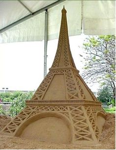 Eiffel Tower Sand Sculpture