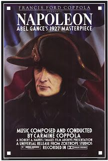 """Poster for Francis Ford Coppola's 1980 restoration of Abel Gance's 1927 French film """"Napoléon"""""""