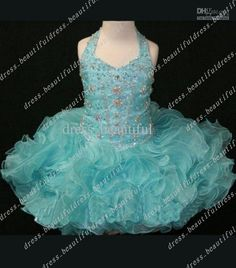 Wholesale Halter Crystal Beading Bodice flower girl dress Toddler girl pageant dress new style Cupcake dress, Free shipping, $50.4-89.6/Piece | DHgate