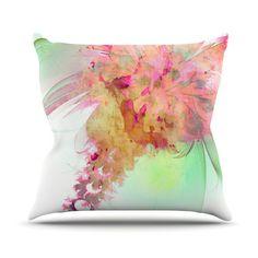 "Alison Coxon ""Lily"" Outdoor Throw Pillow"