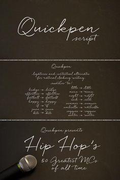 Quickpen Script Font by Laura Condouris