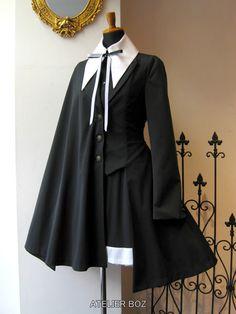 Kawaii Dress, Kawaii Clothes, Edgy Outfits, Cosplay Outfits, Old Fashion Dresses, Fashion Outfits, Mode Lolita, Anime Dress, Frack
