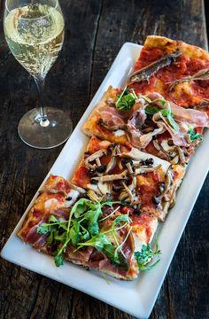 Bonci Pizza -- Roman-Style : Wild Greens and Sardines Romans Pizza, Pizza Branding, Prosciutto Pizza, Bread Shop, Still Tasty, Tapas, Roman Fashion, Eat Pizza, Pizza Recipes