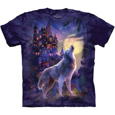 The Mountain WOLF CASTLE T-Shirt. Available in sizes S-3XL.  FREE US SHIPPING!  http://www.ebay.com/itm/Mountain-WOLF-CASTLE-T-Shirt-S-3XL-Fantasy-Moon-Wolves-Tee-NEW-/151843747374?roken=cUgayN