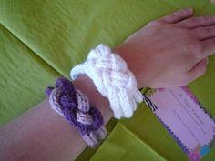 Braçalets fets amb el tricotin