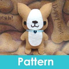 Amigurumi Kingdom Corgi Puppy Dog felt plushie pattern. $5.00, via Etsy.