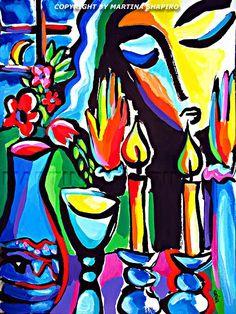 Martina Shapiro (Czech/Canadian) ~ abstract still ~ 'Shabbat Evening'