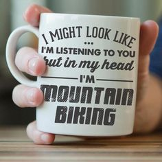 Share your love for mountain bikingevery time you drink yourfavorite beverage with this exclusive mug. Not sold in stores - get your exclusive mug today! 11oz - regular size 15oz - manly size      Details:  Carefully packed in styrofoam and bubble wrapped for safe shipping to your door Design is printed on both sides of the mug Left and right handed ;-) Holds both hot and cold liquids Dishwasher and microwave safe (naturally) 100% ceramic  Size: 11 oz - 80mm/ 3.15 in * 95mm/ 3.7...