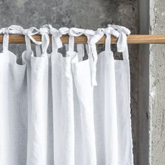 Washed white linen curtains/ linen drapes by notPERFECTLINEN
