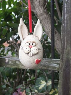 … a sweet bunny for your Easter decoration … approx. cm high … price is per dog … - Modern Easter Art, Easter Crafts, Pottery Sculpture, Pottery Art, Garden Ornaments, Christmas Ornaments, Diy Ostern, Garden Party Wedding, Fairy Dolls