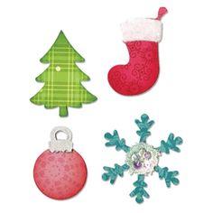 Sizzix Bigz Die - Christmas Tree, Ornament, Snow flake & Stocking $19.99