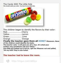Lifesaver candies joke