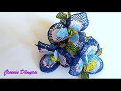 Tespih başlığı İğne oyaları  renkli çiçek yapılışı Sesli anlatım - YouTube