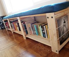 IKEA Hack - Instructable for IKEA shelf turned storage bench