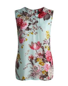 Joules Womens Sleeveless Blouse, Opal Blue.                     Bright, breezy and fantastically floral, this flattering top will soon have you feeling pick of the bunch. Perfect with a pair of jeans or chinos, it's a piece that will make opening your wardrobe a rather more exciting affair.