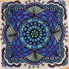Mandala - love the colors
