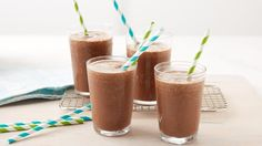 Blend a chocolaty brownie with coffee, frozen yogurt and chocolate syrup for an indulgent afternoon treat or dessert.
