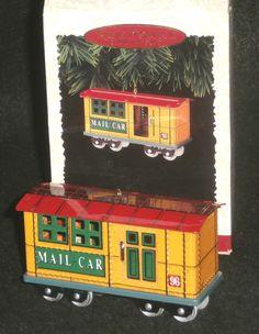 Hallmark Keepsake Christmas Ornament 1996 Yuletide Central-Mail Car #3 QX5011 by DiscountFigurines on Etsy