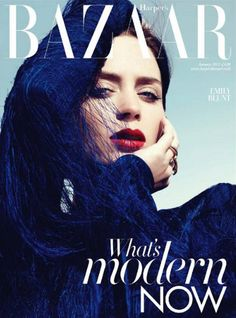 Emily Blunt. Harper's Bazaar. I remember when this issue came out. It looked amazing.