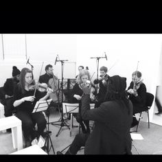 Rehearsing the string octet for #lfw