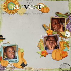 "Layout made with kit ""Pumpkin Time"" (by Lise-Lotte Sunesen)."