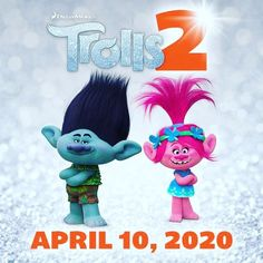 Cant stop the feeling! #annakendrick and #justintimberlake are back as Poppy and Branch in Trolls 2. In theaters April 10 2020. I think they should do a #trolls2 and #smurf cross over.