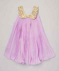 This Lavender Party Dress - Toddler & Girls is perfect! #zulilyfinds