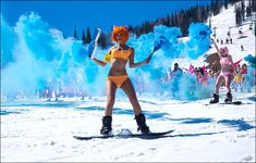 Huge bikini snow show as Russians mark the end of the skiing season