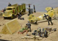 Diorama ww2 1/72 1:72 1/35 Airfix Luftwaffe Airfield Set DAK Afrika Korps