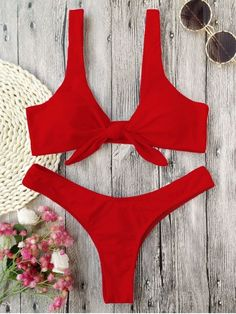 Shop Women's Zaful Red size 6 Bikinis at a discounted price at Poshmark. Description: Zaful Scrunch Butt Knotted Thong Bikini - NEW. Bikini Bandeau, Bikini Jaune, Bikini Rose, Bikini Bleu, Bikini String, Haut Bikini, Red Bikini, Push Up Bikini, Bikini Swimwear