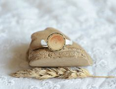 Wood and silver ring forest lover wooden gift idea wooden