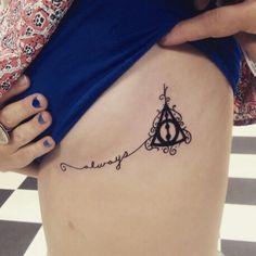 Deadly Hallows Under Breast Tattoo #tattoosbyoscarneri